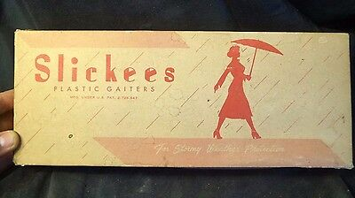 NOS Vintage 1940s Size 8 Slickees Over The Shoe Women's Rain Boots WOriginal Box