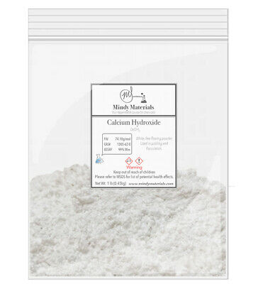 Calcium Hydroxide/Hydrated Lime 99% PURE MIN. 1lb bag
