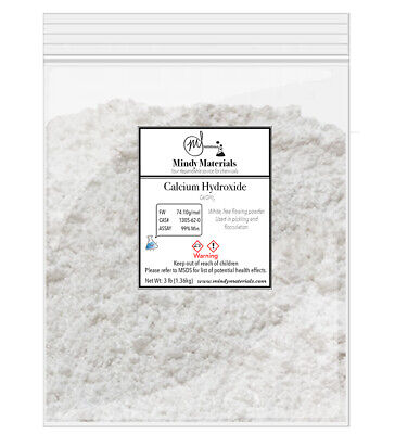 Calcium Hydroxide/Hydrated Lime 99% PURE MIN. 3lb bag