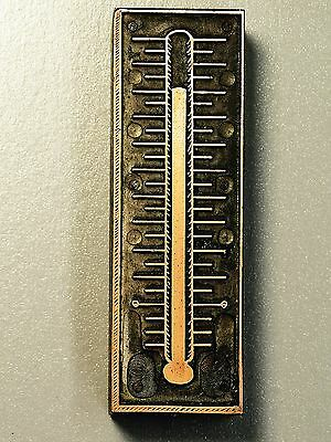 HOT THERMOMETER, SUMMER, Etc. - Letterpress Type Cut Printer Block