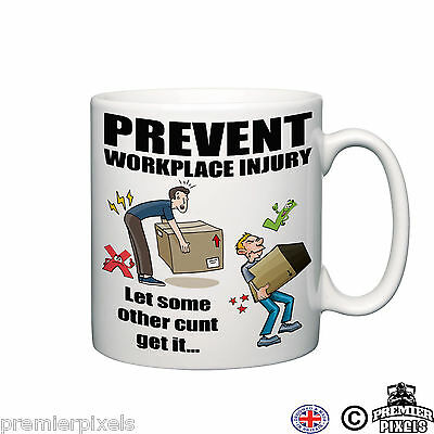 prevent workplace injury funny novelty mug Gift Tea Coffee Office Ceramic home