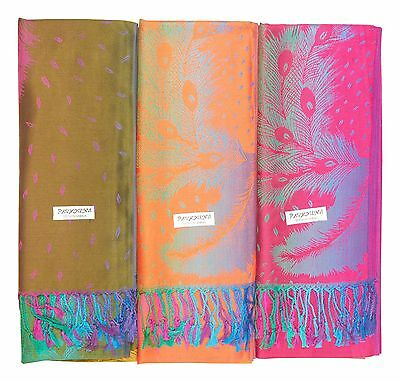 Wholesale Lot of 12 NEW Soft Silk Pashmina Cashmere Shawl Scarf Stole Wrap Women