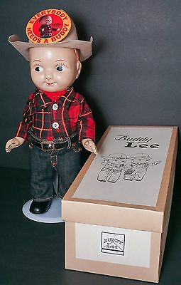 Buddy Lee Doll in Old LEE COWBOY Outfit Hard Plastic With Box