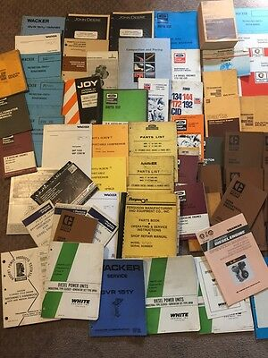 Diesel Engine Manual Lot Repair OEM Book CAT Ford Wacker Joy Duetz Parts Detroit