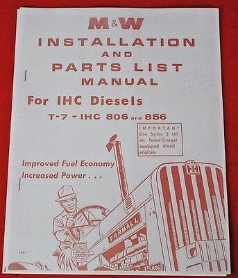 M&W T-7 Turbo Charger More Pow'r IH Farmall Parts & Installation Manual 806 856