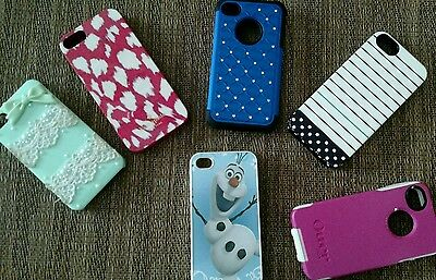 Iphone 5s cases( lot of 6)also fits iPhone 4