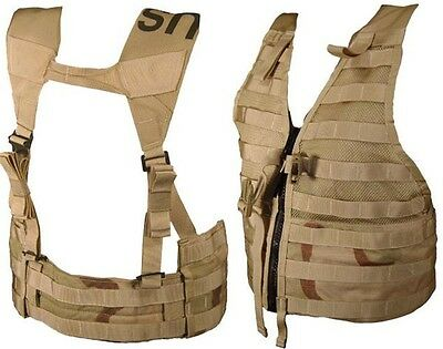 Us Army Desert Flc Vest Flick Dcu Camoufalge Molle Ii Fight Load Carrier Lbe Lce