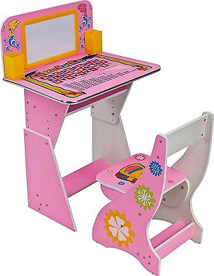 Study Desk Children Computer Adjustable Chair Furniture Table Seat Kids Child 1