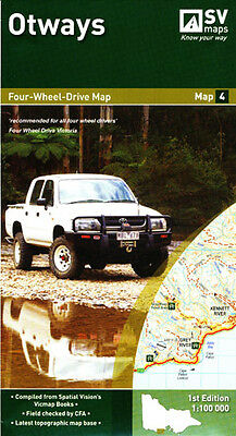 Otways 4WD Map 4 Spatial Vision LAMINATED and Folded