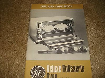 Vintage GE Deluxe Rotisserie Oven Use and Care Book Manual & Recipes
