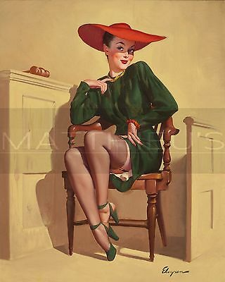 Gil Elvgren-The Verdict Was Wow!, Canvas/Paper Print, Pinup Girl