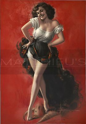 Rolf Armstrong-Hat Dance, Canvas/Paper Print, Pinup Girl