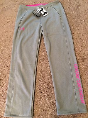 Girl's Youth XL Under Armour Gray Cold Gear Storm Sweat Pants NEW