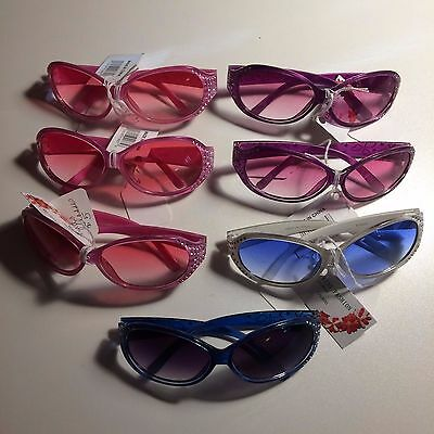 Lot of 7 NEW Little Girl Sunglasses with Sparkles Pink Blue White $35.00 retail