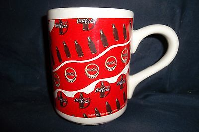 Coca Cola Collectible Mug Cup Gibson Bottles and Caps Images 1997 Coca Cola