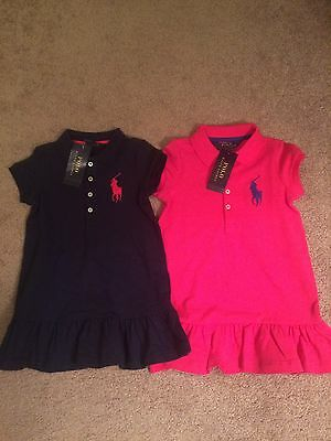 Girls 2 2T Ralph Lauren Polo Big Pony Dress Dresses New