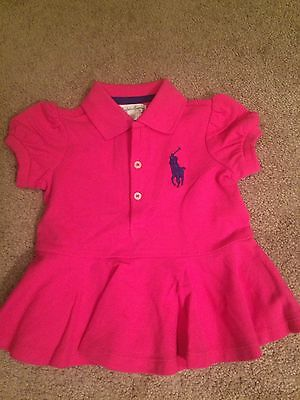 Girls Baby 18 Months Ralph Lauren Polo Big Pony Dress Dress Pink New