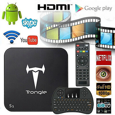 [Free T9 Keyboard & Mouse] Trongle S1 Amlogic S805 MXQ Quad Core Android TV Box