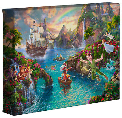 Thomas Kinkade Studios Peter Pan's Never Land 8 x 10 Gallery Wrapped Canvas