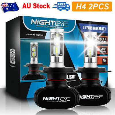 NIGHTEYE H4 LED Headlight Light Bulbs Hi/Lo Beam Replace Halogen 50W 8000LM AU