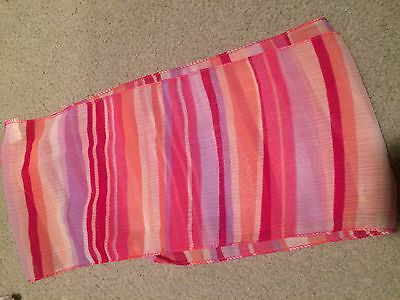 Different Shades of Pink and Purple Striped Scarf