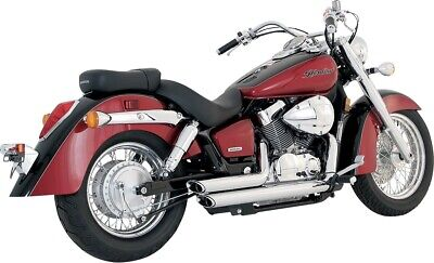 new vance & and hines Shortshots Staggered Exhaust Chrome 18419 04-09 AERO 750