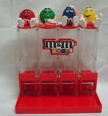 M&m World 4 Tube Colorworks Candy Dispenser