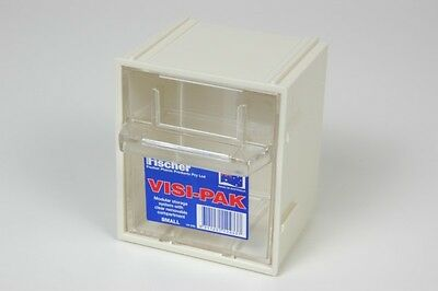 12 off Fischer Plastic Products Visi Pak Modular Storage System Small Beige