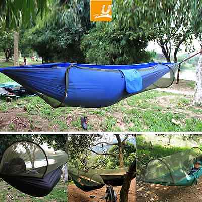 Bushcraft Jungle Paracord Camping Hammock With Mosquito Net Tent For Camping