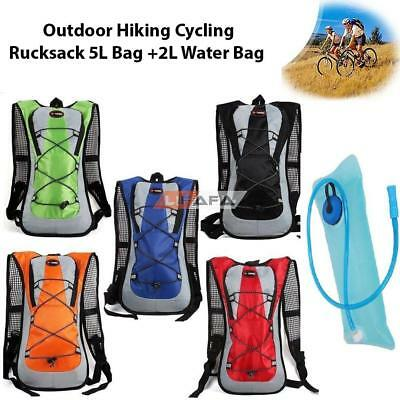 Outdoor Hiking Cycling Rucksack Water Bladder Bag pack Backpack Hydration Packs