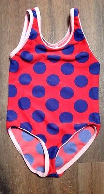 Mini Boden Toddler Girl Polka Dot One Piece Bathing Suit Size 2-3 Years