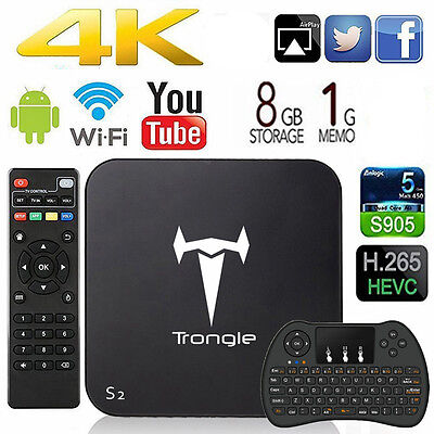 [Wireless Keyboard] S2 MXQ S905 KODI 16.1 fully loaded Quad Core Android TV Box