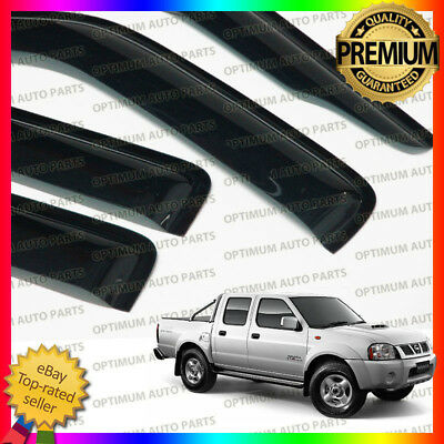 Premium Nissan Navara D22 1997-2015 Weather shields Window Visors Weathershields