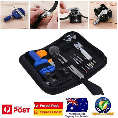 Watch Opener Hand Watchmakers Remover Repair Tool Kit Set w/case 13 Pcs
