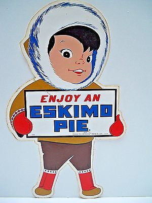 "Vtg. Eskimo Pie 15"" Store Display Sticker/decal Ice Cream Advertising - 1964 Nos"