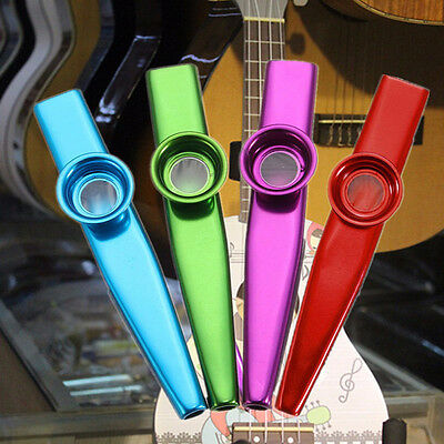 Durable Metal Kazoo Harmonica Mouth Flute Kid Party Gift Musical Instrument