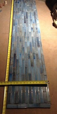 Set Of Vintage Victorian ANTIQUE FIREPLACE Hearth Tile Tiles Sky Blue USET