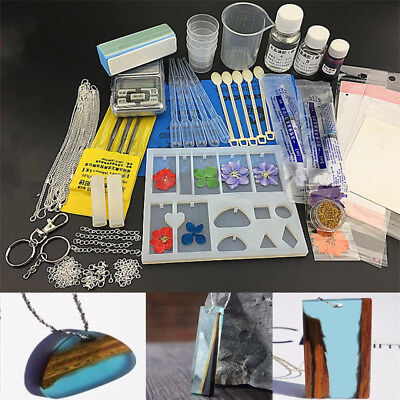 22pcs/set New Jewelry Mold Pendant Silicone Ornament Resin Craft DIY Making Tool