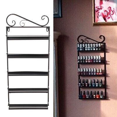 5 Tier Wall Mounted Nail Polish Rack/ Varnish Shop Display Stand Black