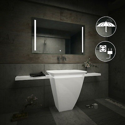 LED Illuminated Bathroom Mirror L02 | Switch | Shaver Socket | IP44