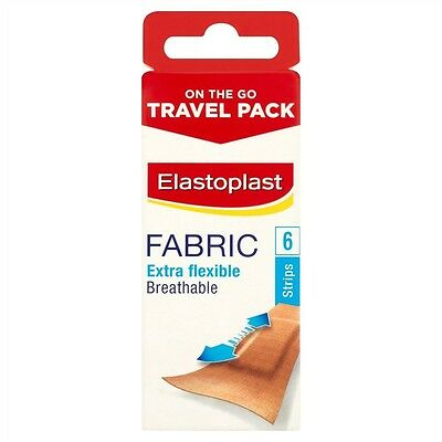 Elastoplast Travel Pack Fabric Plasters x 6 Strips