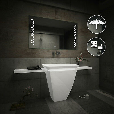 LED Illuminated Bathroom Mirror L65 | Switch | Shaver Socket | IP44