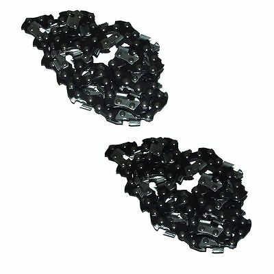 2 x (Two) Chainsaw Saw Chain 3/8 LP .050 57 DL