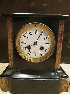 Antique French Japy Freres & Cie  Onyx & Marble Small Mantle Clock -  1855