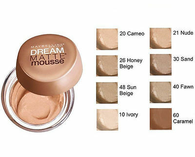 Maybelline Dream Matte Mousse Matte Perfection Foundation - CHOOSE YOUR SHADE