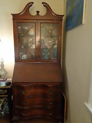 Antique Secretary with Drop  Desk   Ball & Claw feet  4 draws