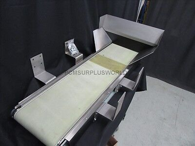 "Flat Belt Conveyor 12.5"" X 51"" With Interroll Motorised Roller (Used and Tested)"