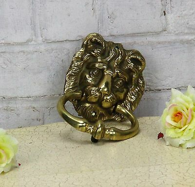 Vintage Brass Door Knocker Lions Head Architectural Reclaimed Lovely