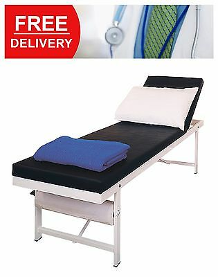 Rest Room Consulting Couch Adjustable Headroom Black Furniture Bed Epoxy Coated
