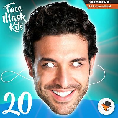 20 Face Masks Photo DIY KITS Personalised For Hen Parties Birthdays Stag Party!